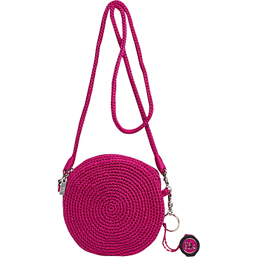 The Sak The Sak Classic Mini Convertible Round Crossbody Pink Berry - The Sak Fabric Handbags