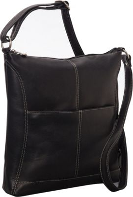 Le Donne Leather Easy Slip Crossbody Black - Le Donne Leather Leather Handbags