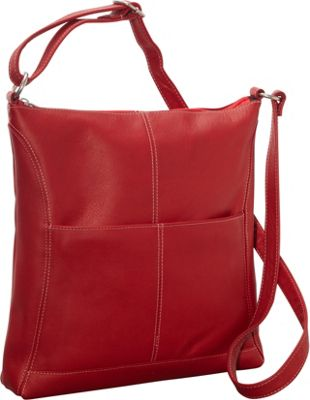 Le Donne Leather Easy Slip Crossbody Red - Le Donne Leather Leather Handbags
