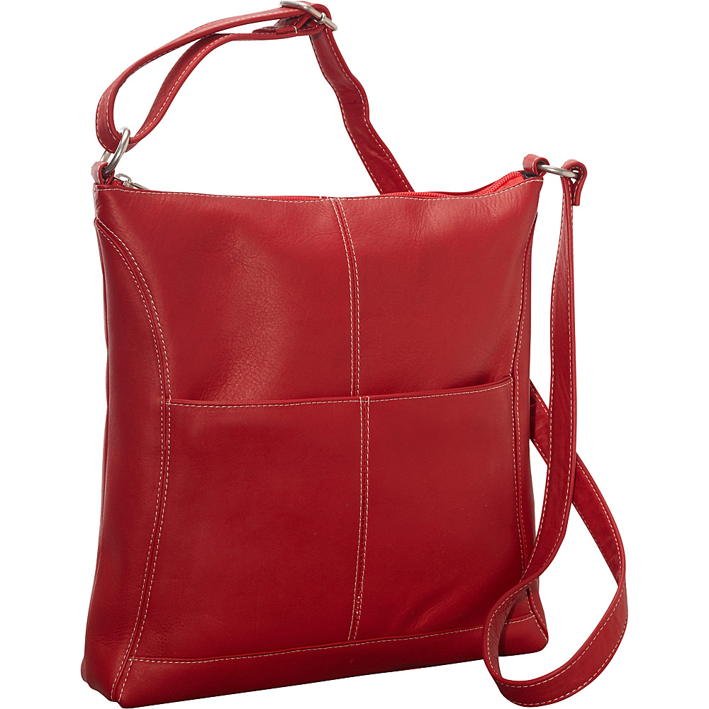 Le Donne Leather Easy Slip Crossbody Red - Le Donne Leather Leather Handbags - Handbags, Leather Handbags