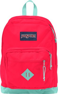 JanSport City Scout Laptop Backpack Fluorescent Red - JanSport Business & Laptop Backpacks