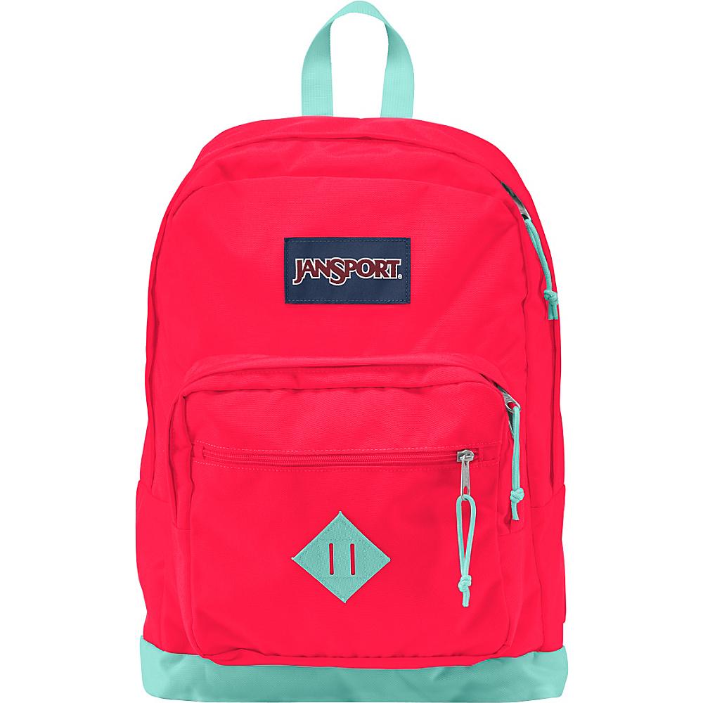 JanSport City Scout Laptop Backpack Fluorescent Red - JanSport Business & Laptop Backpacks