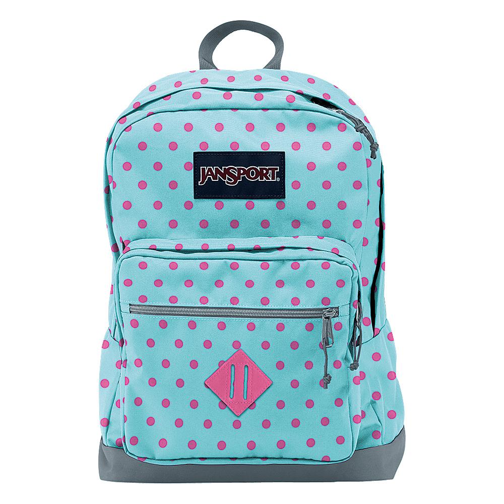 JanSport City Scout Laptop Backpack Blue Topaz / Lipstick Kiss Dot-O-Rama - JanSport Business & Laptop Backpacks