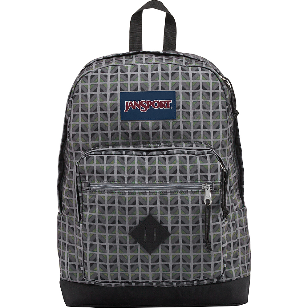 JanSport City Scout Laptop Backpack Muted Green Window Pane - JanSport Business & Laptop Backpacks