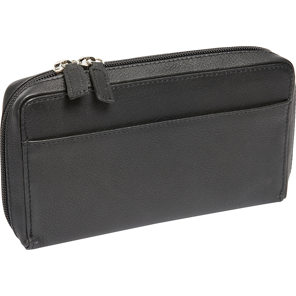Derek Alexander Large Full Zip Organizer Clutch Wallet Black - Derek Alexander Womens Wallets - Women's SLG, Women's Wallets