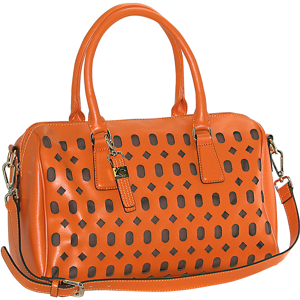 Buxton Gabriella Satchel Orange (OR) - Buxton Leather Handbags