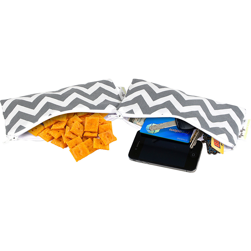 Itzy Ritzy Snack Happens Mini Bag 2 Pack C. Grey Chevron Itzy Ritzy Diaper Bags Accessories