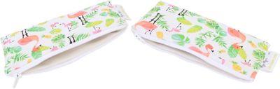 Itzy Ritzy Snack Happens Mini Bag, 2-Pack Flamingo Flock - Itzy Ritzy Diaper Bags & Accessories