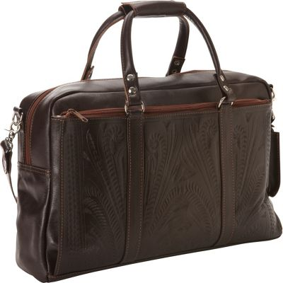 Ropin West Tote Brief Brown - Ropin West Non-Wheeled Business Cases