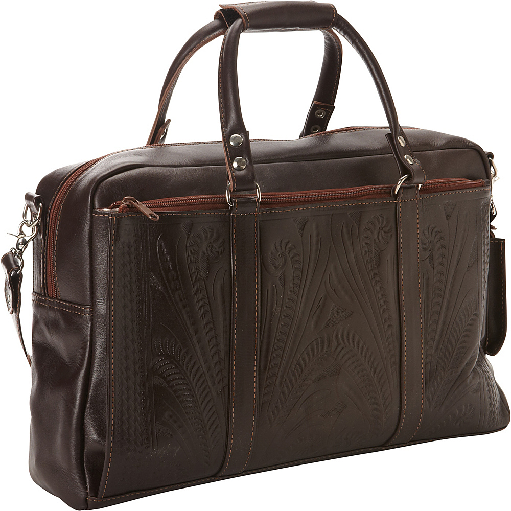 Ropin West Tote Brief Brown Ropin West Non Wheeled Business Cases