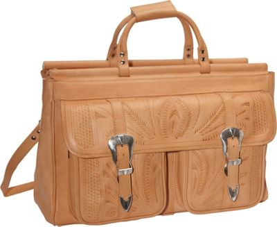 """Ropin West 20"""" Leather Weekender Natural - Ropin West Luggage Totes and Satchels"""
