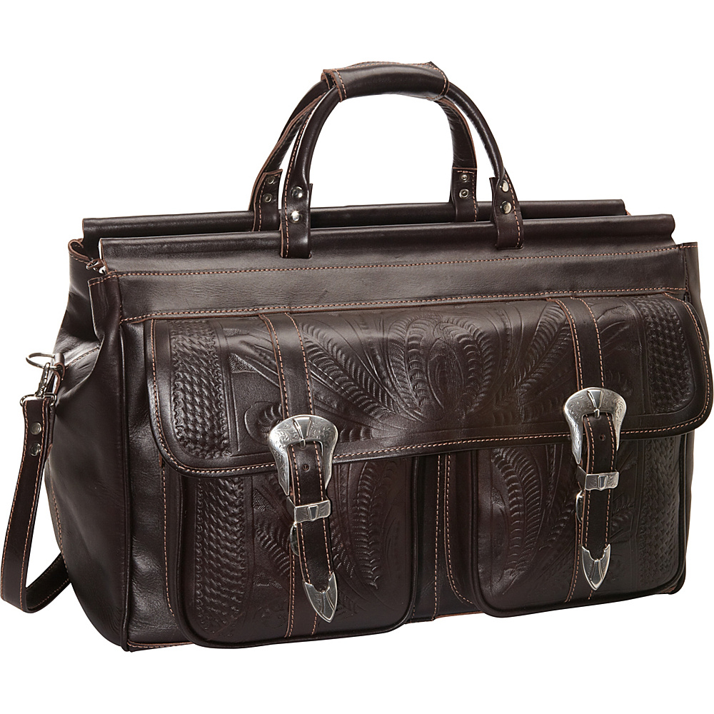Ropin West 20 Leather Weekender Brown Ropin West Luggage Totes and Satchels