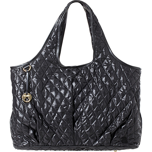 Clava Three Quilted Commuter Tote Black Quilted Nylon - Clava Fabric Handbags
