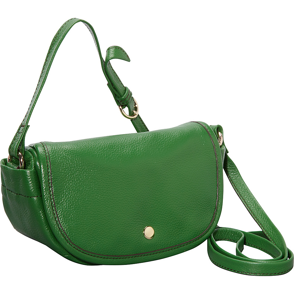 Clava Page Leather Mini Crossbody Green - Clava Leather Handbags