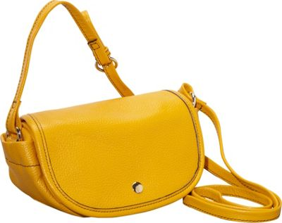 Clava Page Leather Mini Crossbody Yellow - Clava Leather Handbags