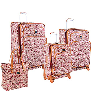 Baby Hearts 4 Piece Luggage Set Plum