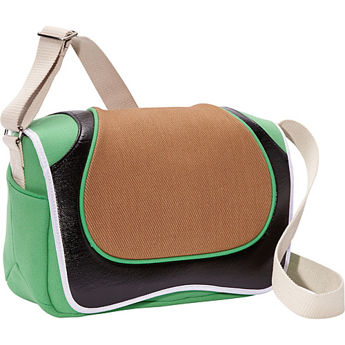 Aerystar Seto Iconic Series Messenger Bag Brown / Black / Light Green / White - Aerystar Messenger Bags