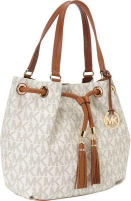 MICHAEL Michael Kors Jet Set Item Large Gathered Tote Bag Vanilla - MICHAEL Michael Kors Designer Handbags