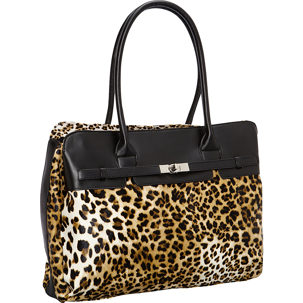 Digital Treasures Designer Fashion Laptop Tote Leopard - Digital Treasures Women's Business Bags