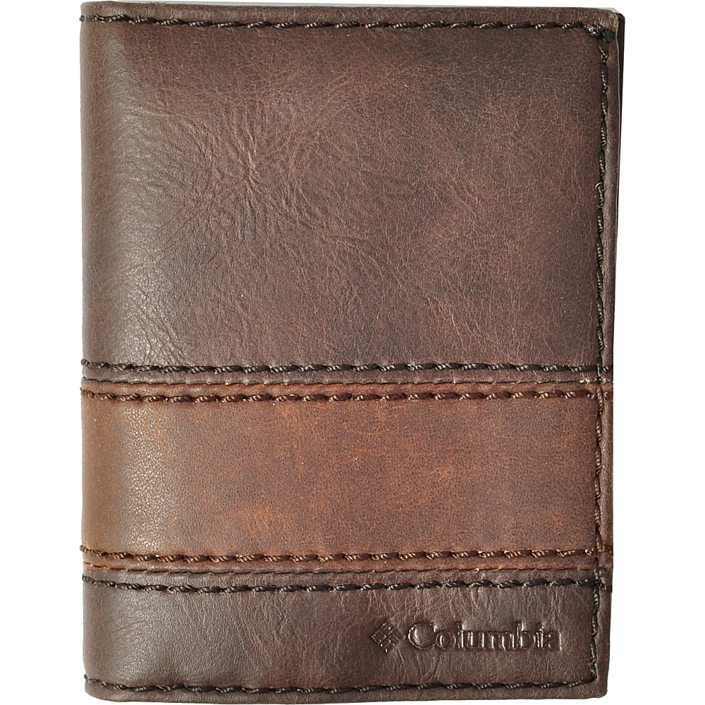Columbia L-Fold Wallet Brown - Columbia Mens Wallets