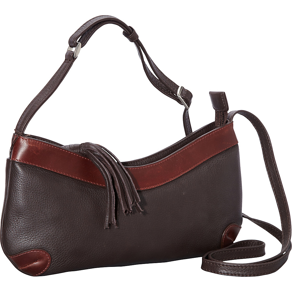 Derek Alexander EW Slim Shoulder Bag Brown/Brandy - Derek Alexander Leather Handbags - Handbags, Leather Handbags