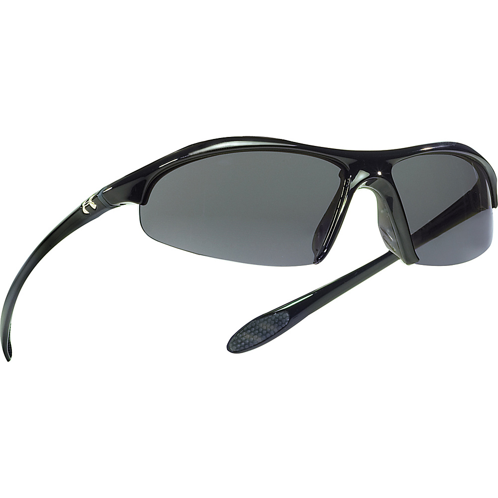 Under Armour Eyewear Zone Sunglasses Shiny Black Gray Under Armour Eyewear Sunglasses