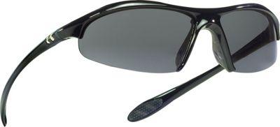 Under Armour Eyewear Zone Sunglasses Shiny Black/Gray Polarized w/ Multiflection - Under Armour Eyewear Sunglasses