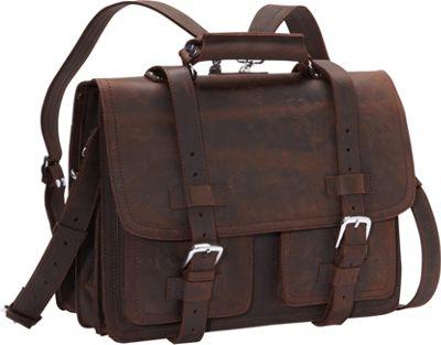 Vagabond Traveler CEO Full Leather Briefcase & Backpack D...