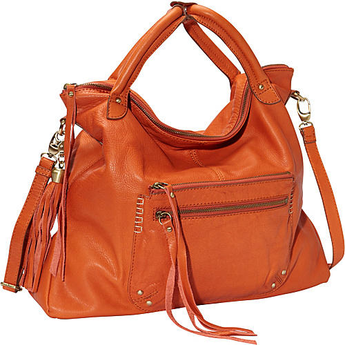 Lucky Brand Delray Tote Spice Orange - Lucky Brand Leather Handbags