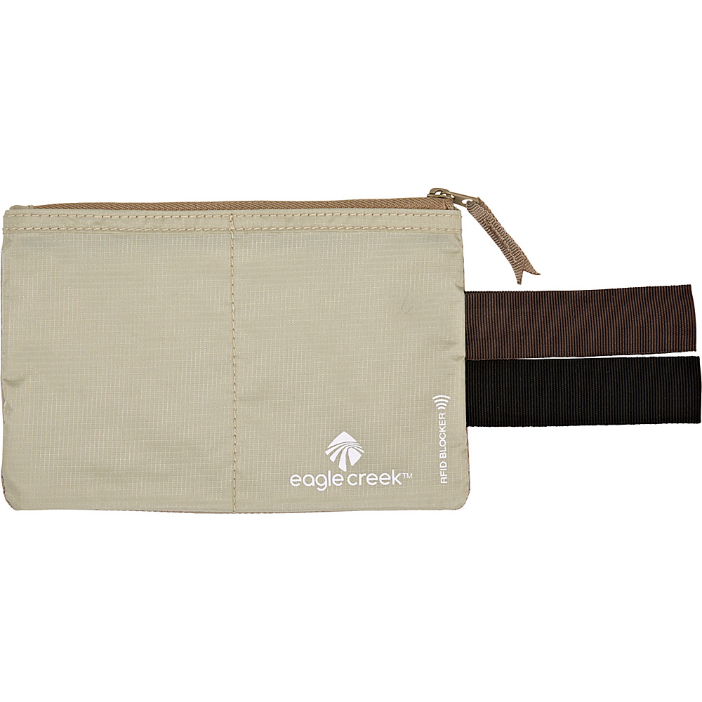 Eagle Creek RFID Blocker Hidden Pocket Tan - Eagle Creek Travel Wallets - Travel Accessories, Travel Wallets