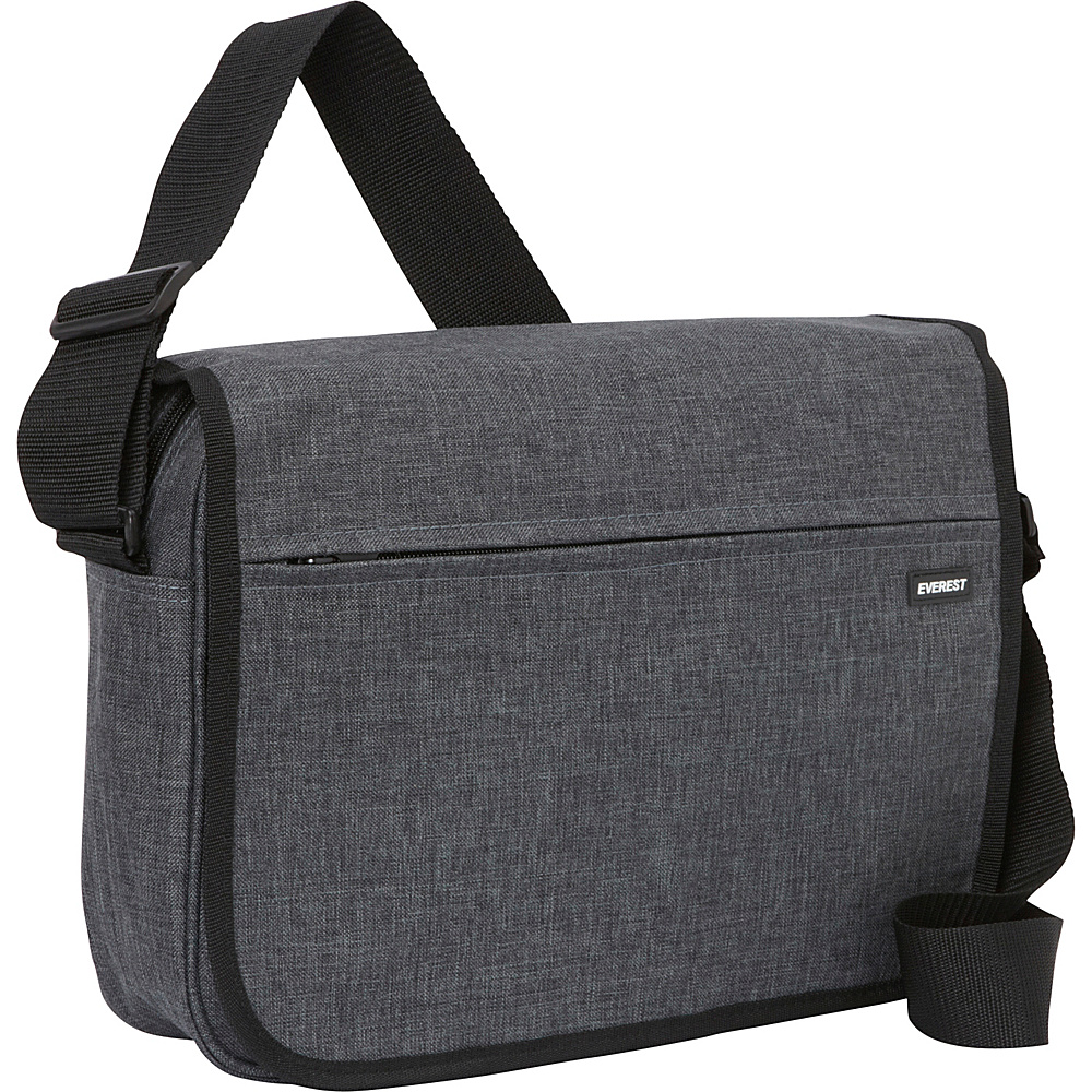 Everest Deluxe Laptop Messenger Charcoal - Everest Messenger Bags - Work Bags & Briefcases, Messenger Bags