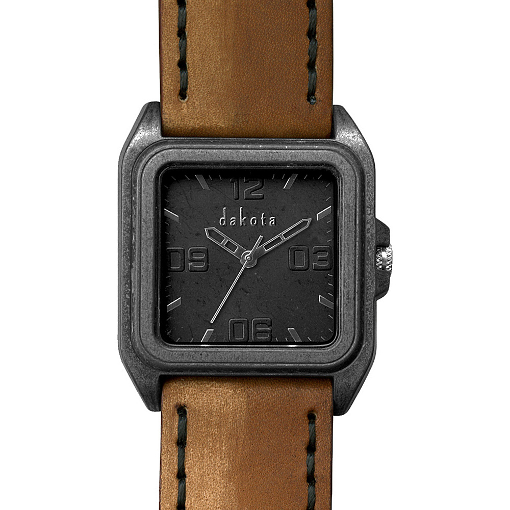 Dakota Watch Company Dakota Raw Tan with Black - Dakota Watch Company Watches