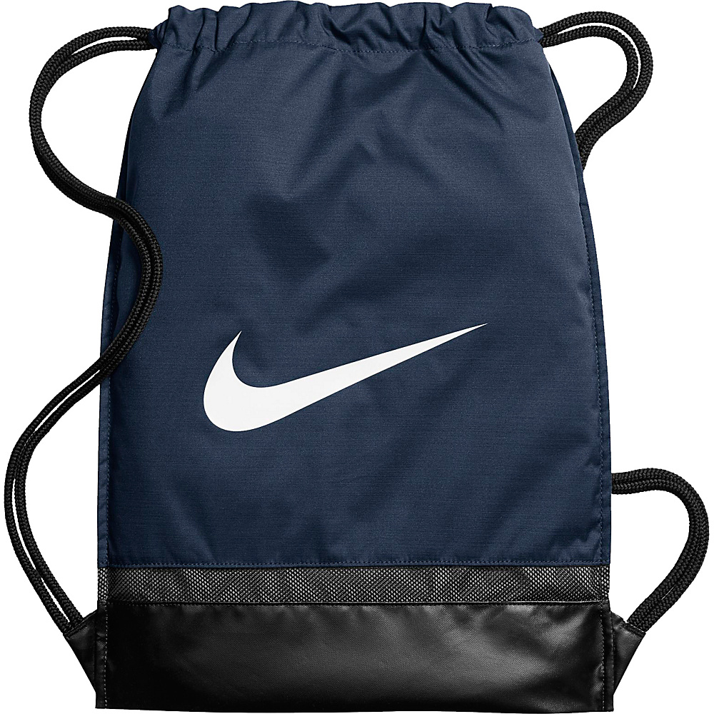 Nike Brasilia Gymsack Midnight Navy Black White Nike Everyday Backpacks