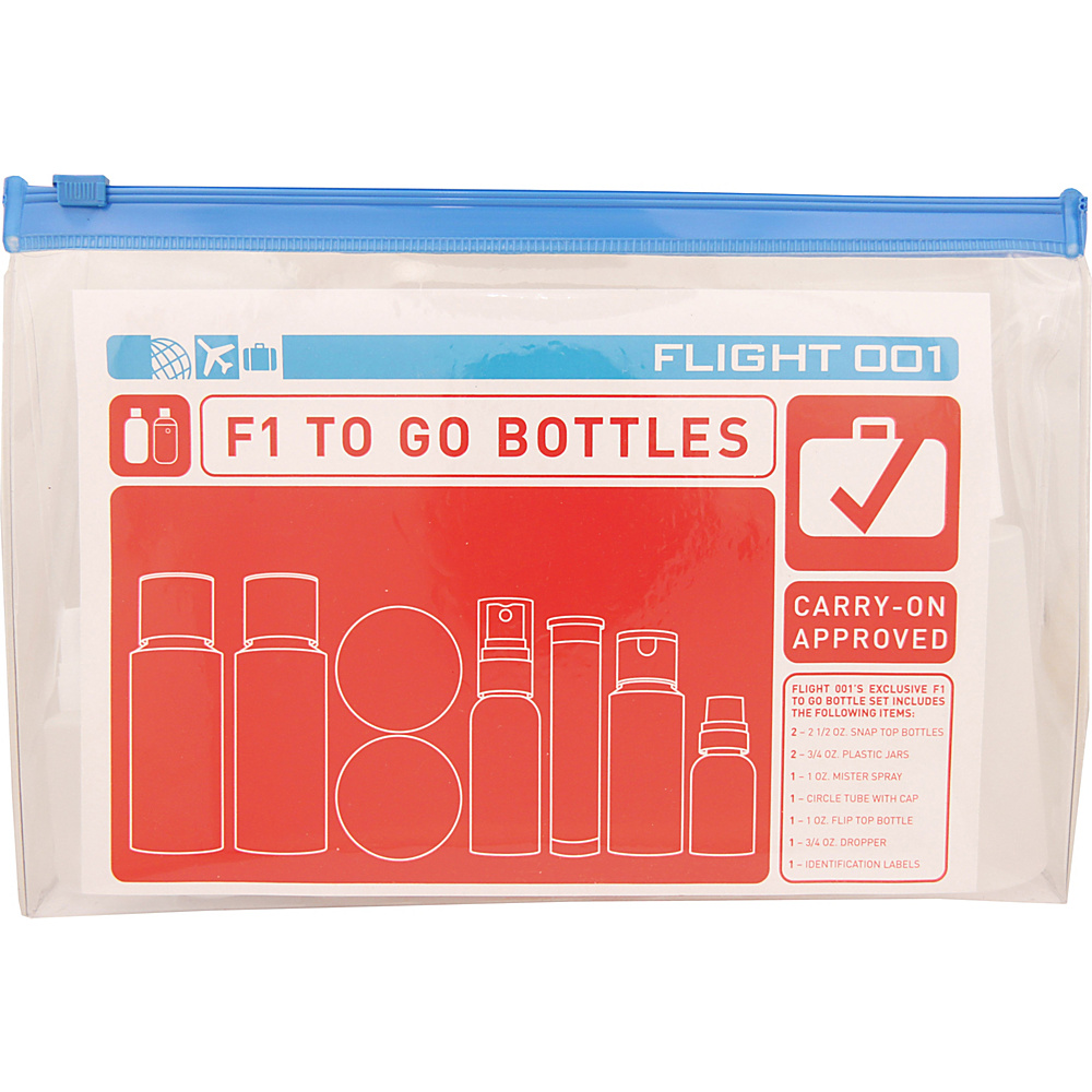 Flight 001 To Go Bottles Jars Clear Flight 001 Toiletry Kits