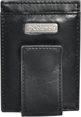 Columbia Card Case with Tension Clip Black - Columbia Men's Wallets