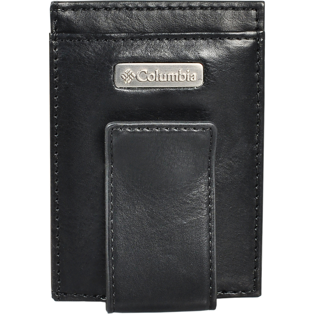 Columbia Card Case with Tension Clip Black Columbia Men s Wallets