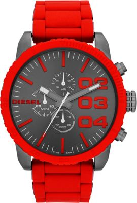 Diesel Watches Diesel Watches Franchise Red/ Gunmetal - Diesel Watches Watches