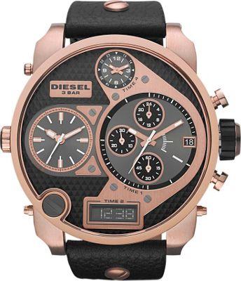 Diesel Watches Mr. Daddy Black/Rose Gold - Diesel Watches Watches