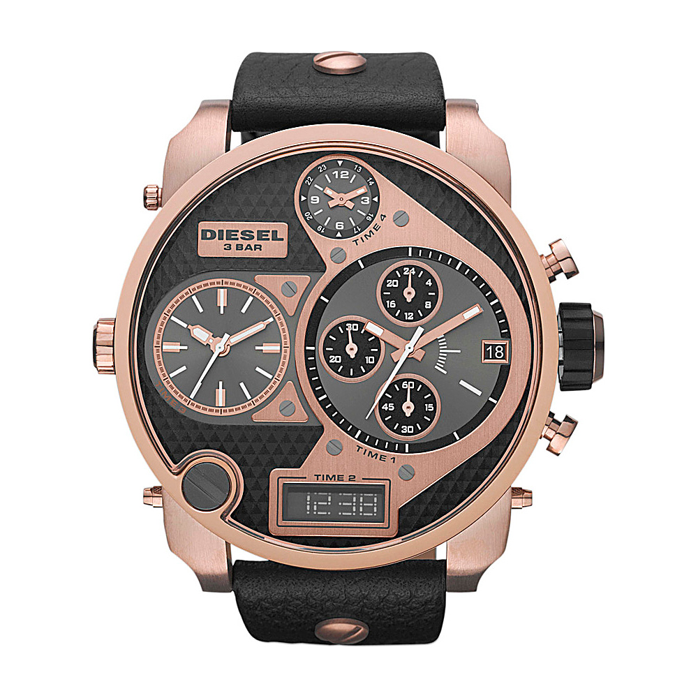 Diesel Watches Mr. Daddy Black/Rose Gold - Diesel Watches Watches