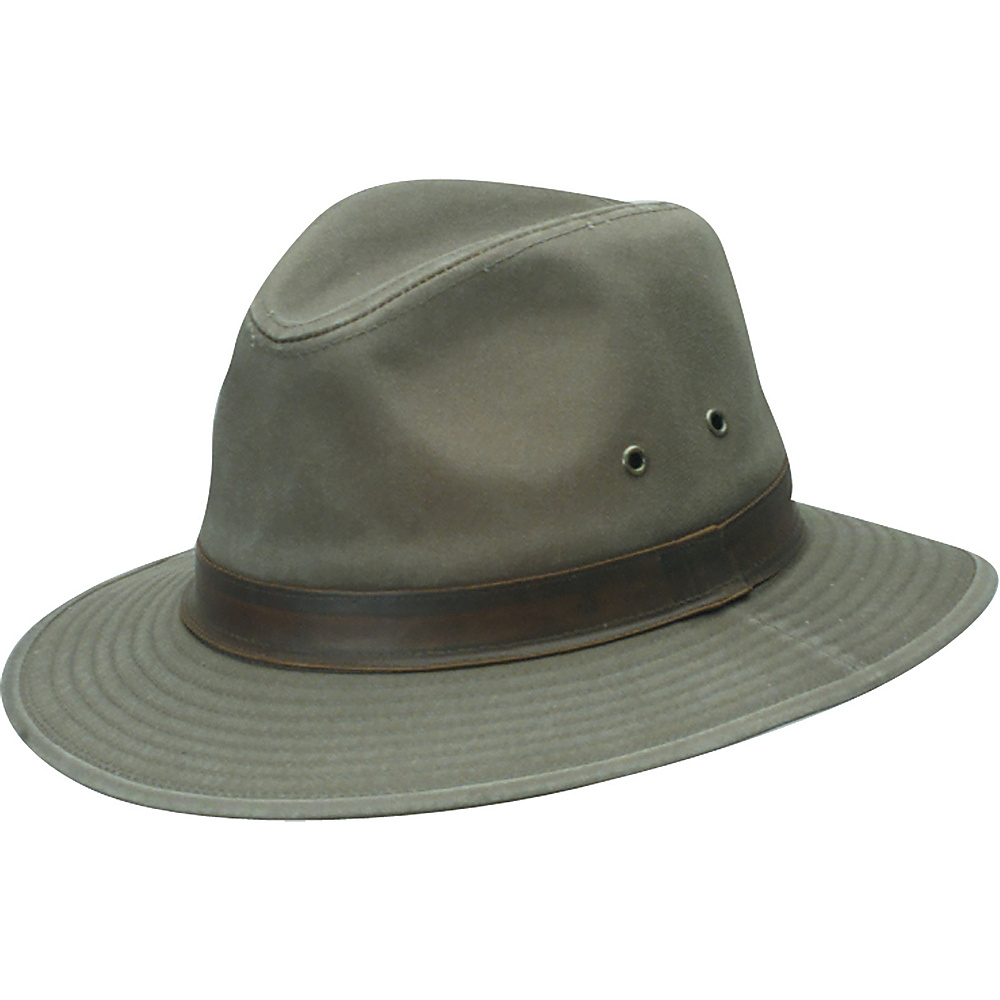 Scala Hats Washed Twill Safari Bark XLarge Scala Hats Hats Gloves Scarves