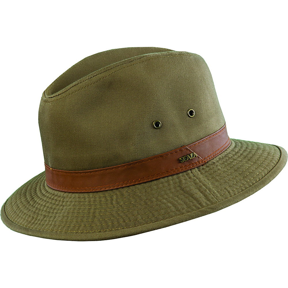 Scala Hats Washed Twill Safari Olive XLarge Scala Hats Hats Gloves Scarves