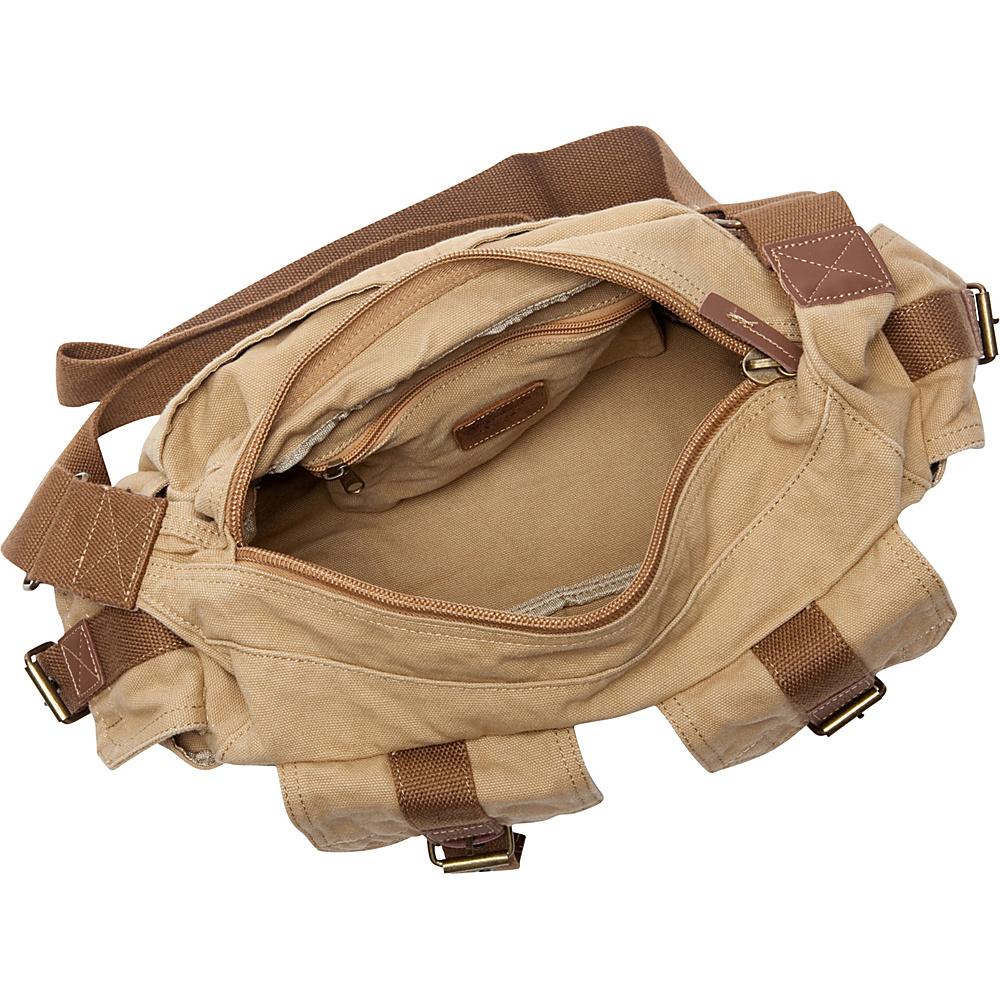 Vagabond Traveler Boat Style Canvas Messenger Bag Military Green - Vagabond Traveler Messenger Bags