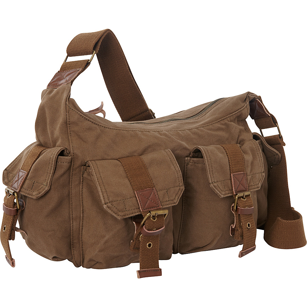 Vagabond Traveler Boat Style Canvas Messenger Bag Military Green - Vagabond Traveler Messenger Bags - Work Bags & Briefcases, Messenger Bags