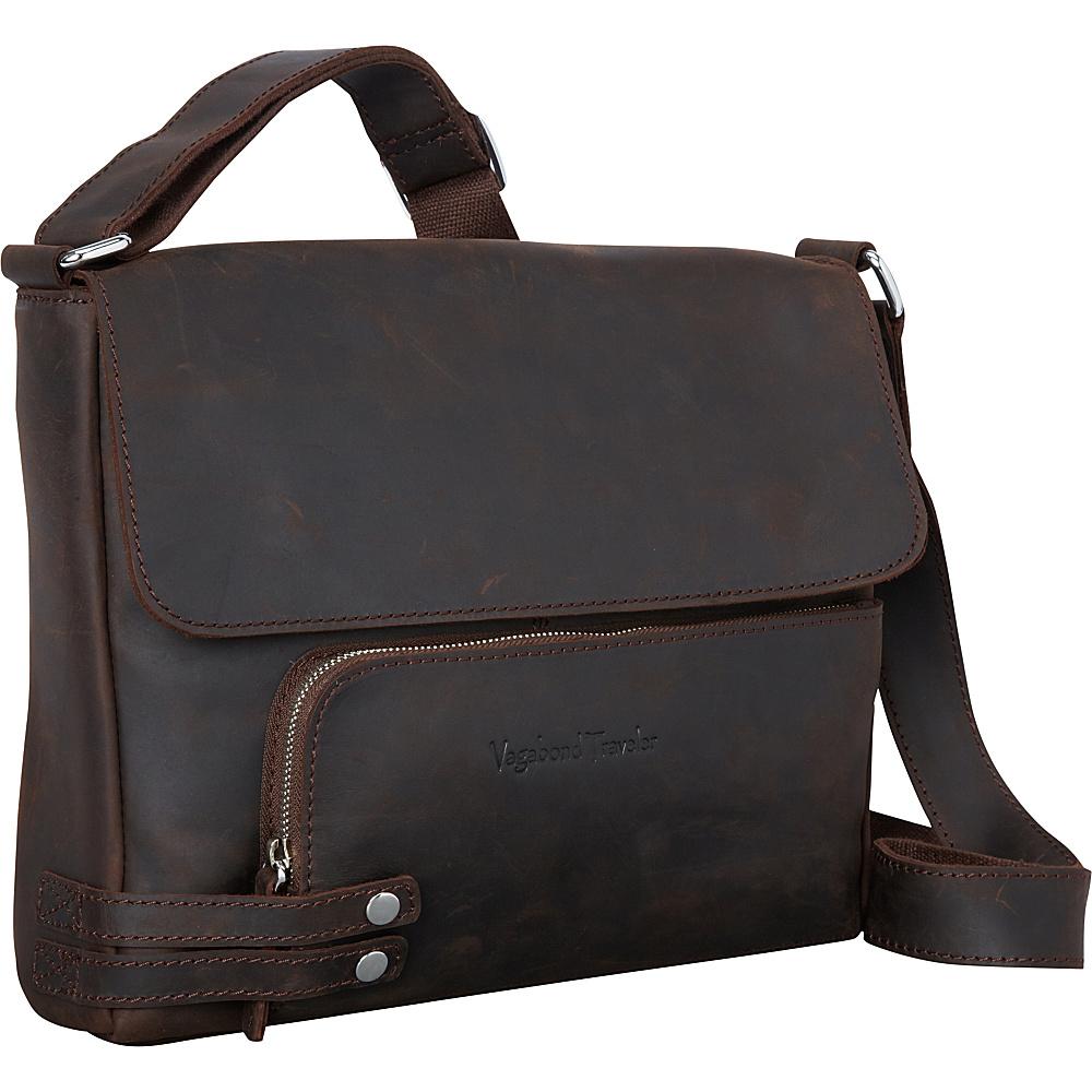 Vagabond Traveler 13 Medium Leather Messenger Dark Brown - Vagabond Traveler Other Mens Bags - Work Bags & Briefcases, Other Men's Bags
