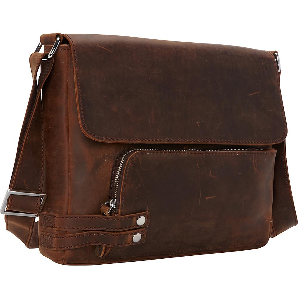 Vagabond Traveler 13 Medium Leather Messenger Vintage Brown - Vagabond Traveler Other Mens Bags - Work Bags & Briefcases, Other Men's Bags