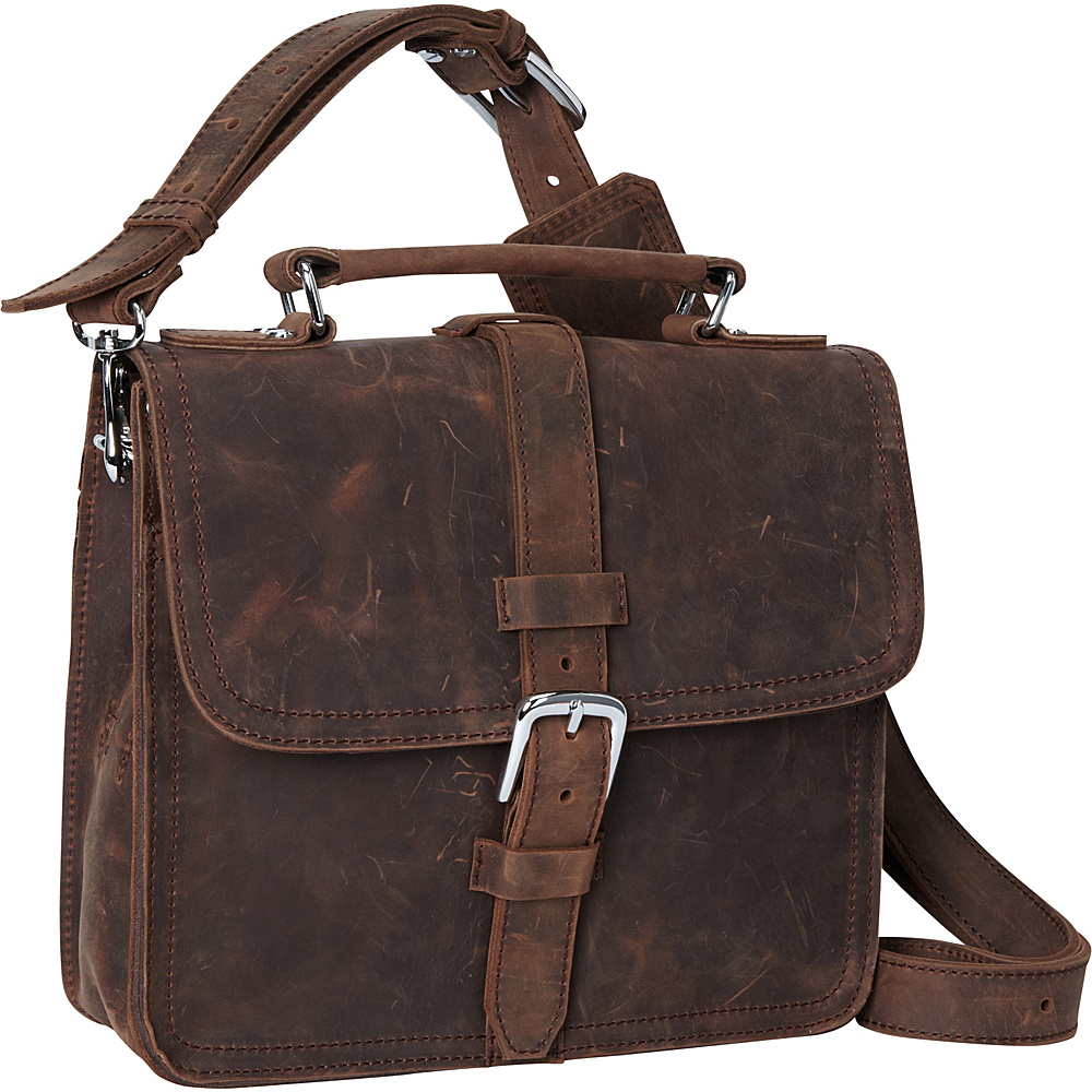 Vagabond Traveler 12 Leather Tablet Messenger Vintage Distress - Vagabond Traveler Other Mens Bags - Work Bags & Briefcases, Other Men's Bags