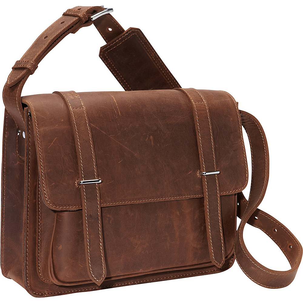 Vagabond Traveler 14 Leather Laptop Bag Vintage Distress - Vagabond Traveler Messenger Bags - Work Bags & Briefcases, Messenger Bags