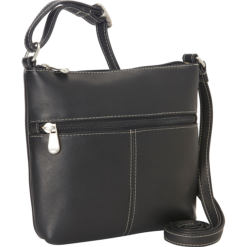 Le Donne Leather Lifestyle Crossbody Black - Le Donne Leather Leather Handbags - Handbags, Leather Handbags