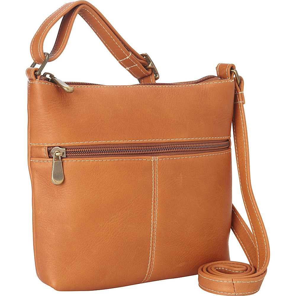 Le Donne Leather Lifestyle Crossbody Tan - Le Donne Leather Leather Handbags - Handbags, Leather Handbags