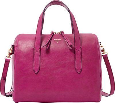 Fossil Sydney Satchel Fucshia - Fossil Leather Handbags